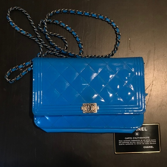 CHANEL Handbags - Chanel BoyPatent Wallet on a Chain
